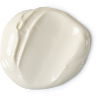 A white body lotion splotch