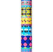 Tubo de color amarillo con diseño de kaleidoscopio