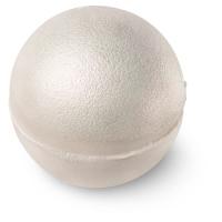 white shiny bath bomb that looks like a pearl