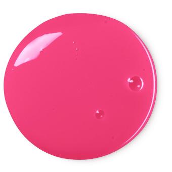 red circle of shower gel