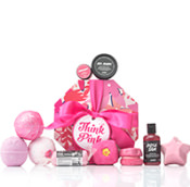 Lush Think Pink geschenk, eine tolle geschenkidee von lush mit Lush topseller produkte