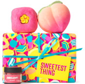 pink sweet themed gift with products on it