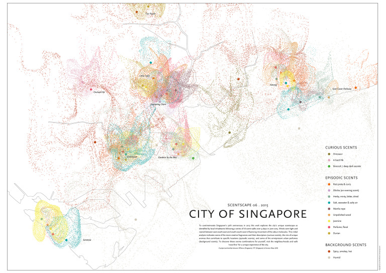 Kate McLean Smell map Singapore