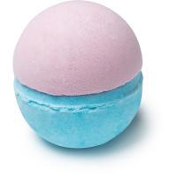 Moon Spell bomba de baño en forma de luna llena de color lila y rosa