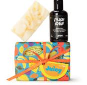 Juicy caja de regalo con productos para la ducha con aroma a frutas
