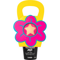 un regalo para el día de las madres en forma de flor con dos productos para el baño de lush