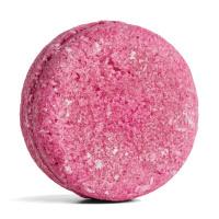 champú sólido zero waste de color rosa con aceite de argán y absoluto de rosa Jason & The Argan Oil
