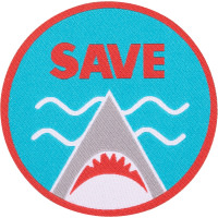 save the sharks swag patch