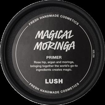 Vista dall'alto della confezione di Magical Moringa Crema viso - Base trucco Lush