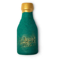 A. bottle shaped green bubble bar