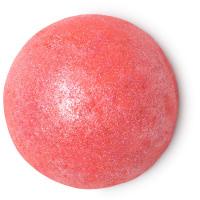 rote runde duschbombe mit flachem boden
