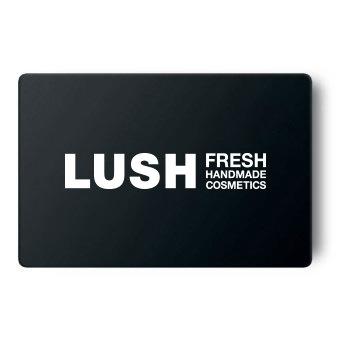 Lush Geschenk Gutschein Karte - Black