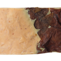 Rectangle soap with brown leaves