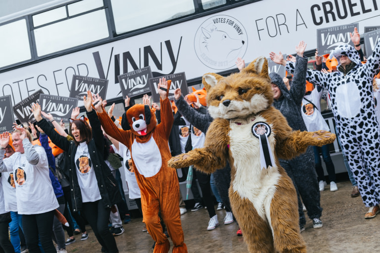 Votes for Vinny battle bus