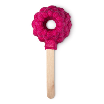 raspberry shaped bubble blower on a stick