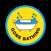 Der Gone Bathing Aufnäher der im exklusiven #LushLabs Pass enthalten ist