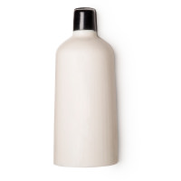 A white bottle shaped solid shower gel