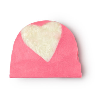 Pink soap with a white heart inside