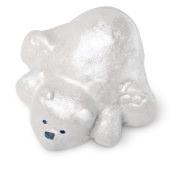 weißes schaumbad in der form eines eisbären