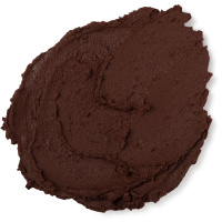 brown thick face mask in flat circle shape