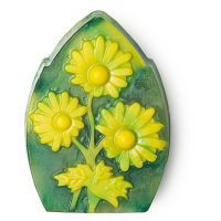 Chamomile Lawn szappan 3D-nyomtatóval készült sárga virágokkal