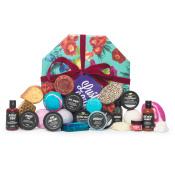 lush life caja de regalo con productos para baño y ducha de muchos colores vibrantes