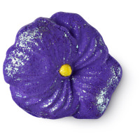 purple flower themed bubble bar
