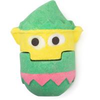 elf bomb bomb é uma das bombas de banho exclusivas de natal em forma de elfo verde