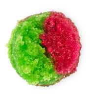 ein rot grünes lippenpeeling aus zucker