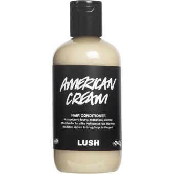 Balsamflaska som heter American Cream