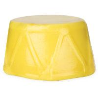 drummers drumming gelatina de ducha de navidad de color amarillo en forma de tamburín