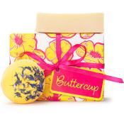 Litet rosa och gult hudvårdspaket från Lush
