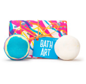 Colourful 'Bath Art' gits box with 2 bath bombs