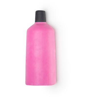 Pinkes, nacktes Duschgel in der Form einer Duschgelflasche
