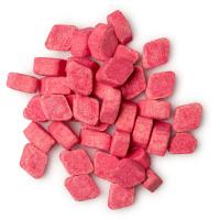 spritz enjuage bucal en pastillas de color rosa