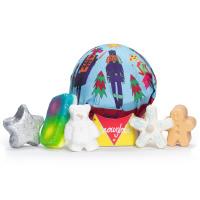 Confezione regalo di Natale Snow Globe e il suo contenuto