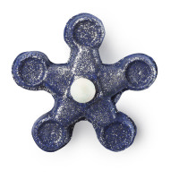 A blue sparkly bubble spinner