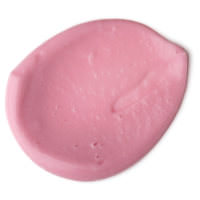La textura de color rosa de la crema para pies mentolada y refrescante Pink Peppermint
