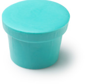 A pot shaped solid shower conditioner
