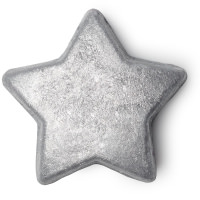 A silver star shaped bath melt
