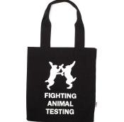 fighting animal testing canvas bag