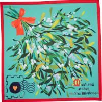 Meet me under the mistletoe é um dos lenços de natal com um azevinho