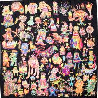 Monster party é um dos knot wraps de edição limitada de halloween com vários monstros