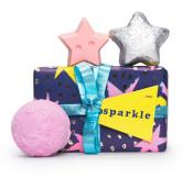 Confezione regalo di Natale Sparkle e il suo contenuto