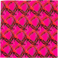 red lobster themed valentines day knot wrap
