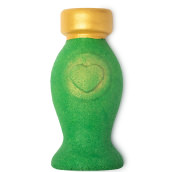 green bottle shaped perfume scented bubble bar