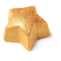 star shaped golden glittery shower bomb