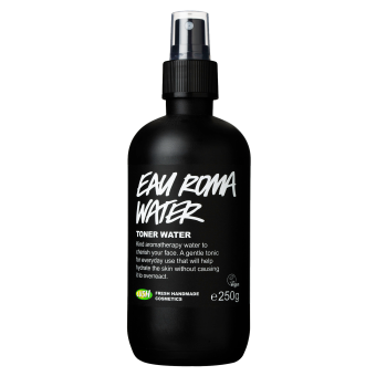 Confezione del Tonico viso per pelle sensibile senza alcool con rosa e lavanda Eau Roma Water (Acqua di Sole)