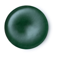 circular solid green perfume