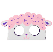 lamb themed product holder and mask